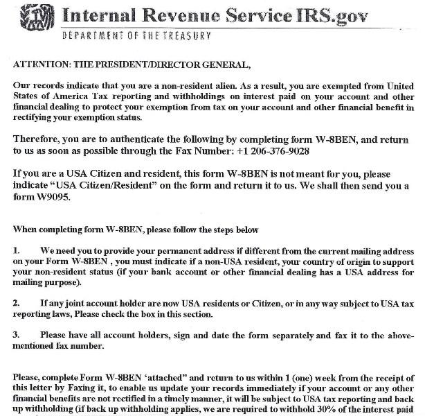 公式ブログ シーブリーズ irs govを名乗ってfaxを送りつけてくるw 8ben